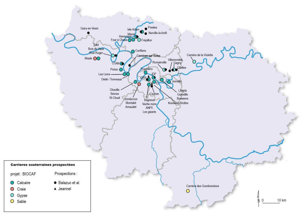 Carte de prospections